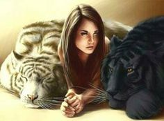 Kelsey and her tigers