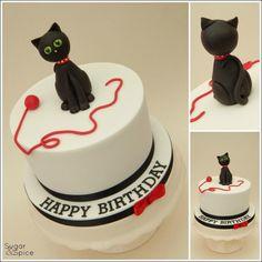 Little Black Cat ... - Cake by Sugargourmande Lou
