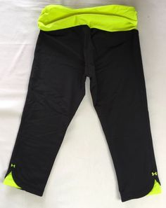 UNDER ARMOUR Shatter II Capri Yoga Stretch Compression Pants Legging Black M #UnderArmour #PantsTightsLeggings