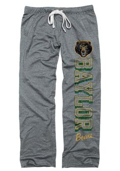 Baylor Bears Grey Boyfriend Sweats