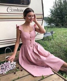 30 Cute Summer Outfits for Women and Teen Girls Casual Simple Street Styles - Lifestyle State Pretty Dresses, Beautiful Dresses, Beautiful Beautiful, Sleeveless Summer Dresses, Dresses Dresses, Pink Summer Dresses, Sunmer Dresses, Elegant Summer Outfits, Elegant Summer Dresses