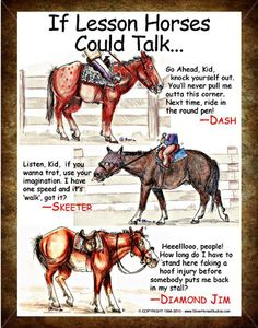 """""""If Lesson Horses Could Talk"""""""
