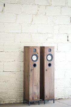 Walnut Floor Standing Speakers