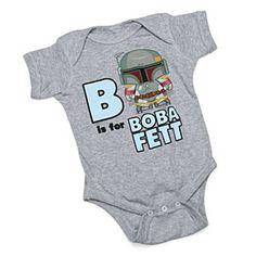 ThinkGeek :: B is for Boba Fett Bodysuit