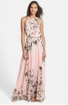 2015 New Fashion Chiffon Party maxi Lace summer dresses women sleeveless O-neck Ladies long Dress with belt