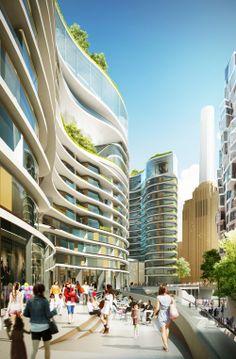 Foster y Gehry Revelan Diseño para renovación de Central Termoélectrica Battersea