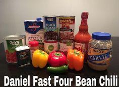 Daniel Fast Four Bean Chili