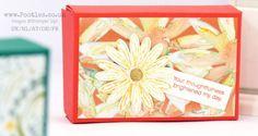 "Delightful Daisy Delight Fold Flat Box • YouTube video. Finished size: 5"" x 3¼"" x 1½"""