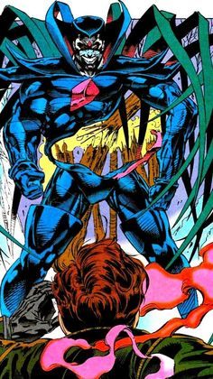 Mr Sinister vs Cyclops by Andy Kubert Comic Book Villains, Marvel Villains, Comic Book Characters, Marvel Dc Comics, Marvel Heroes, Comic Character, Marvel Avengers, Comic Book Artists, Comic Books Art