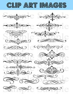 Super Swirls Clipart Package 112 Images Wedding by BridalBust, $25.00