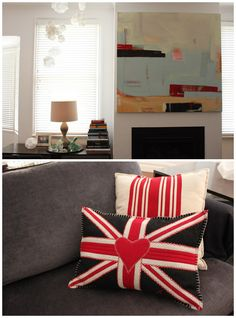 Love the Union Jack pillow! Great whimsical & eclectic Melbourne home of Donna Zimbardi, via Design Files.