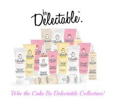One of my lucky readers is going to win a entire Cake Beauty Be Delectable Collection in the scent of their choice!  Choose from strawberry and cream, lemon and cream, coconut and cream, or vanilla and cream! Total prize value $60