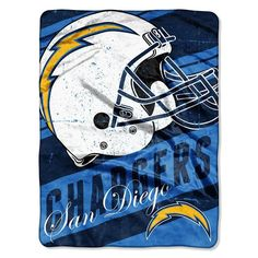 315e09281a238 San Diego Chargers NFL Micro Raschel Blanket (Deep Slant Series) (46in x  60in)