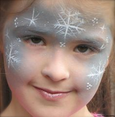 Winter or Christmas face paint idea.