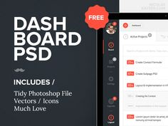 Dashboard PSD Freebie