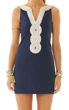 Lilly Pulitzer Valli Shift in True Navy