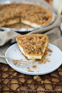 Pumpkin Streusel Cheesecake | chocolateandcarrots.com