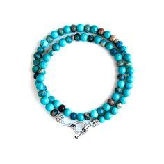 Turquoise Jasper Wrap Bracelet, 50€, now featured on Fab.