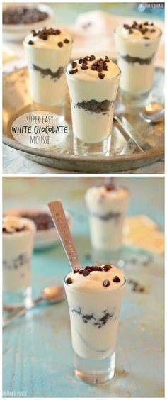 Super EASY White Chocolate Mousse! ONLY TWO INGREDIENTS! | The Cookie Rookie