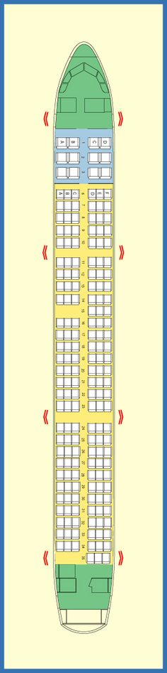 AIR JAMAICA AIRLINES AIRBUS A321 AIRCRAFT SEATING CHART