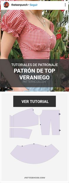 Patrón de crop top veraniego - Icicle Tutorial and Ideas Diy Clothing, Sewing Clothes, Clothing Patterns, Dress Patterns, Sewing Patterns, Poncho Patterns, Loom Patterns, Fashion Sewing, Diy Fashion