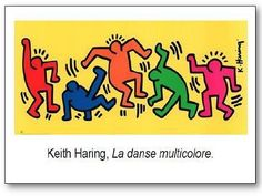 Keith Haring La danse multicolore