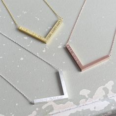 Personalised Chevron Pendant Necklace