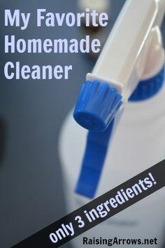 My Favorite Homemade Cleaner {3 ingredients!}