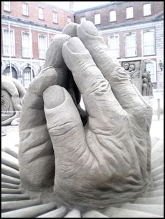 Please, save them - Sand sculpture in Dublin Castle.