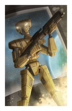 HK-47 by Otis Frampton. Star Wars: Knights of the Old Republic.