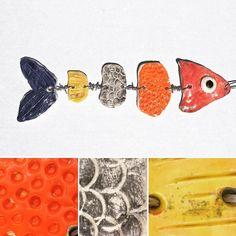 Exploring different textures in these ceramic textured fish parts! #clay #claywithkids #handbuilding #ceramics #elementaryart #elementaryartteacher #artteacher #artteachersofinstagram #clayprojects #wip #teachersofinstagram #arted #arteducation #visualarts #artwithkids