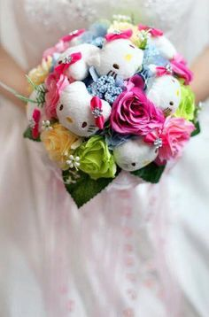 hello kitty wedding bouquet 3