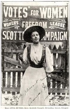 Anna Munro, Scottish suffragette and founder of the Women's Freedom League. In 1912 she walked from Edinburgh to London to protest womens' right to vote. Great Women, Amazing Women, Belle Epoque, Les Suffragettes, Women Suffragette, Susan B Anthony, Suffrage Movement, Brave Women, Before Us