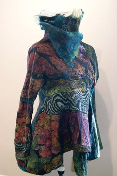Seamless Butterfly Jacket Art Deco ~ YES PLEASE!! The colors are so awesome!!