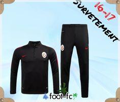 Survetement de foot Galatasaray Noir 2016 2017