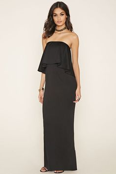 Strapless Flounce Maxi Dress | Forever 21 - 2000147059