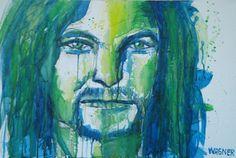 Acryl auf Leinwand Portraits, Painting, Canvas, Head Shots, Painting Art, Paintings, Paint, Draw, Portrait Paintings