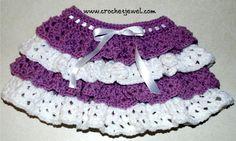 Crochet Ruffle Skirt (Girls size 2, 4)