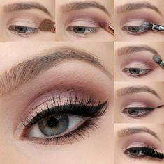 We're taking the must-have shades of the season, and transforming them into bold eye looks with our Mauve Matte Eye Tutorial! Colorful Eye Makeup This season trend, dark tinted headlights, replaced with brightly colored. Mauve Makeup, Matte Eye Makeup, Eye Makeup Steps, Smokey Eye Makeup, Soft Eye Makeup, Make Up Gesicht, Colorful Eye Makeup, Eye Tutorial, Makeup Revolution