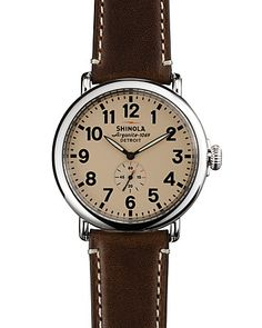 85faea4a866 Shinola The Runwell Dark Coffee   Cream Orange Leather
