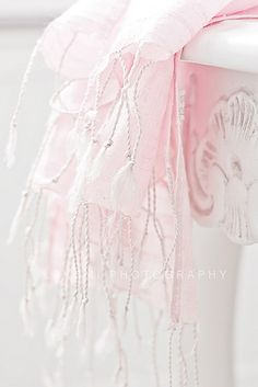 Pale pink silk scarf....beautiful.