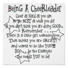 Being a Cheerleader Poster