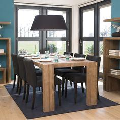Прямоугольный обеденный стол из натурального дерева тика с массивной столешницей.             Метки: Деревянные столы, Кухонный стол, Обеденный стол из массива.              Материал: Дерево.              Бренд: Teak House.              Стили: Скандинавский и минимализм.              Цвета: Коричневый.