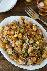 BBQ Bread Salad with Corn
