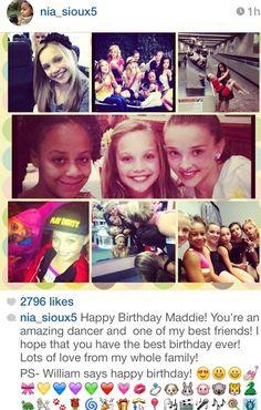 Nia Wishing Maddie a Happy Birthday!(: