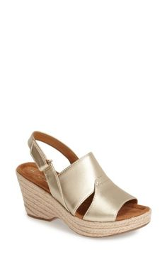 Free shipping and returns on Naturalizer 'Olivia' Espadrille Sandal (Women) at Nordstrom.com. Braided espadrille trim wraps the wedge and platform of a comfort-minded leather slingback sandal cushioned with a dual-density foam footbed.