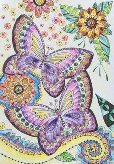 Tattered Lace Crescent creaciones Mariposas