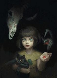 """-- Begin Yuzo --><!-- without result -->Related Post Keeney- cool """"guest book"""" ide. This Romantic Painting on Canvas could be a grate . Arte Horror, Horror Art, Dark Fantasy Art, Dark Art, Illustrations, Illustration Art, Character Art, Character Design, Bow Art"""