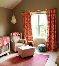 Beautiful nursery using our Texas Modern Watercolor fabric!