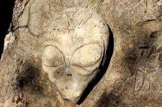 Relieve en piedra en Santa Cruz, California.